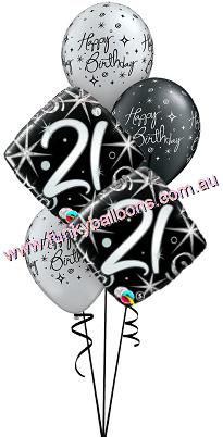 21st Birthday Funky Balloons Melbourne VIC Helium Balloon Gift